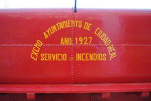 Rotulo Lateral del DeDion Bouton del servicio de bomberos