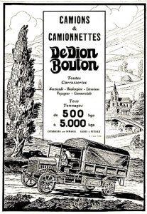 Publicidad francesa de DeDion Bouton